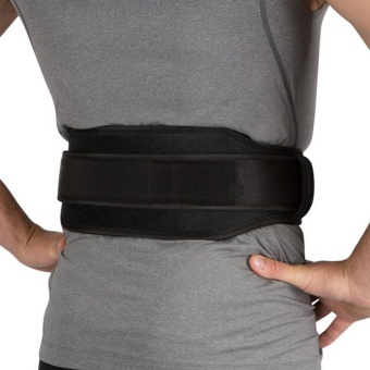 Gym Weight Lifting Belt Waist Back Support Strap Power Dip Training Fitness - intl