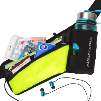 Haissky Can Put Water Bottles Waist Pack Sport Phone Case For Below6 Inch Phone (Black) - intl - 5