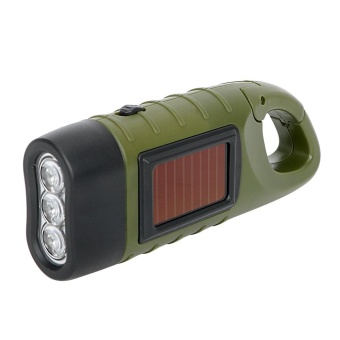 Hand Crank Dynamo Solar Power Tent Light LED Flashlight Portable for Outdoor Camping Mountaineering Torch Lantern - intl