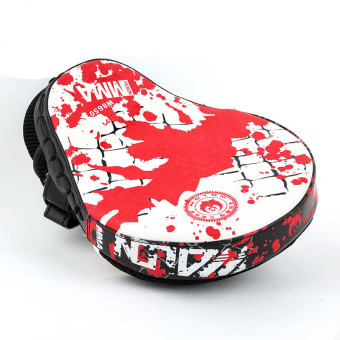 Hand Target MMA Boxing Mitt Training Punch Pad Mitt (Red White-26)