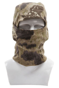 HANG-QIAO Full Face Camouflage Mask (Brown)
