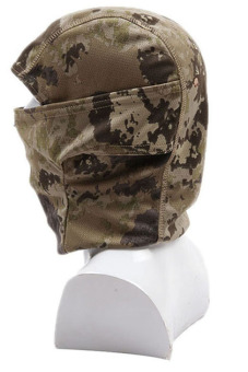 HANG-QIAO Full Face Camouflage Mask (Brown) - picture 2