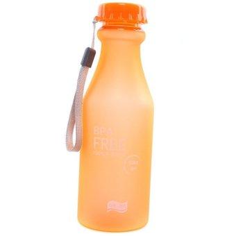 HANG-QIAO Travel Sport Water Bottle 550ML (Orange)