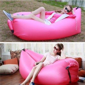 Hangout Laybag Inflatable Air Bag Camping Holiday Beach Lazy SofaSleeping Bed (pink) - 2