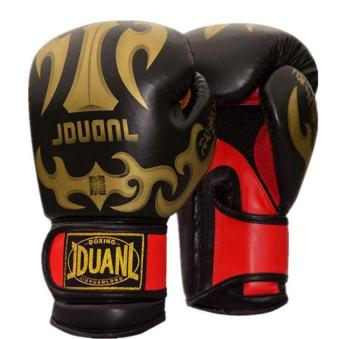 Having nine bully muay Thai boxing gloves Tae kwon do fight sandamuay Thai training gloves competition gloves (Black)