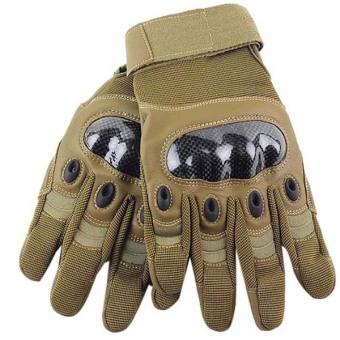 Hengsong Full Finger Riding Gloves (Khaki)