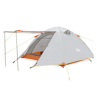 Hewolf 3-4 Person Outdoor Waterproof Family Tent with Carry Bag(khaki) - Intl Price Philippines