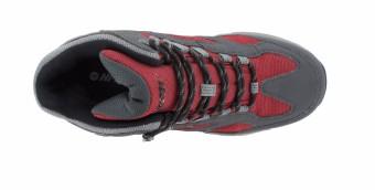 Hi-Tec Men's Lima Sport WP (Charcoal/Red/Black) - 3