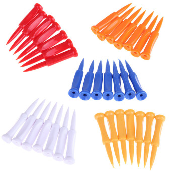 HKS 35pcs Golf Tees Plastic Castle Tee Height Control Step Down 68mm - Intl