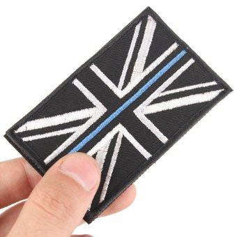 HKS Backup Velcro Patches National Flag UK Flag Emblem Hook & Loop Tapes - Intl