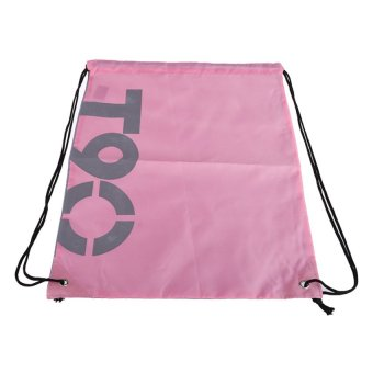 HKS Casual Beach Swimming Backpack Storage Bag Super Light Polyester (Pink) - Intl