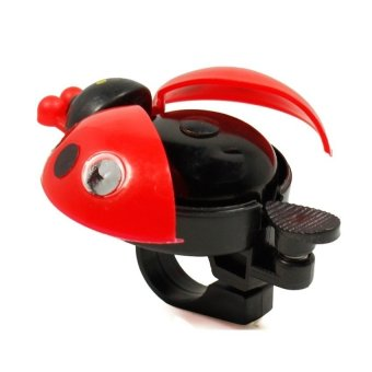 HKS New Bicycle Ladybug Bell Bike Handlebar Ladybird Alarm Horn (Red) outdoor adventure - Intl - picture 2