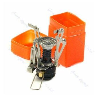 HKS Portable Outdoor Picnic Gas Burner Foldable Hiking Camping Mini Steel Stove Case - Intl