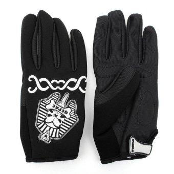 HKS QEPAE Cycling Full Finger Gloves Bike Bicycle Black XL - Intl