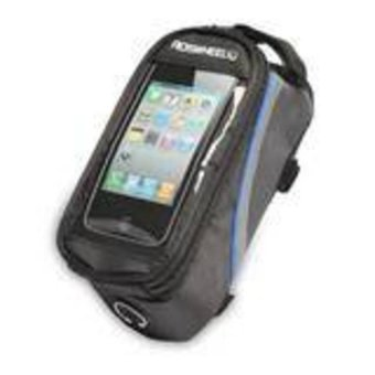 HKS Roswheel Cycling Frame Pannier Front Tube Cell Phone Bag Pouch (Blue) - Intl