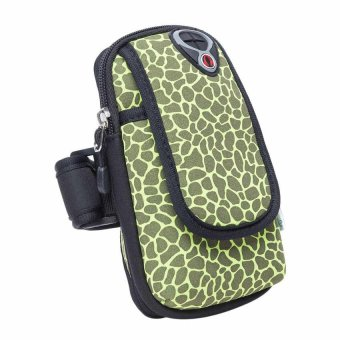 HKS Small Outdoor Cycling Sport Running Wrist Mobile Cellphone Bag Arm Package Green/ Black - Intl