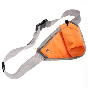 HKS Sports Fanny Pack Cycling Waist Belt Bag (Orange) - Intl