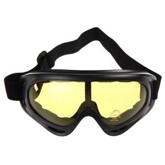 HKS Sunglasses Motorcycle Ski Goggles Glasses(Yellow) - Intl