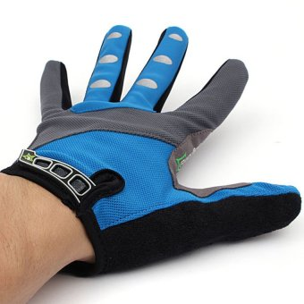 HKS Winter Full Finger Gloves Cycling Racing Riding Motorcycle Mountain Bike Bicycle (Blue) - Intl - picture 2