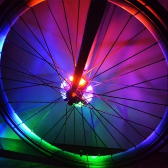 Hub Light Bike Wheel Light MTB LED Spoke Light 3xLR44 Battery IP55Waterproof