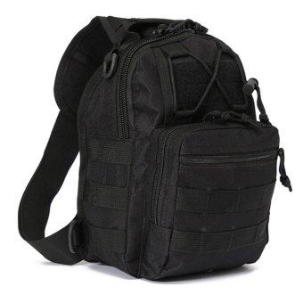 HUG #388 Shoulder Sling Bag Military Tactical Backpack (Black) - 2