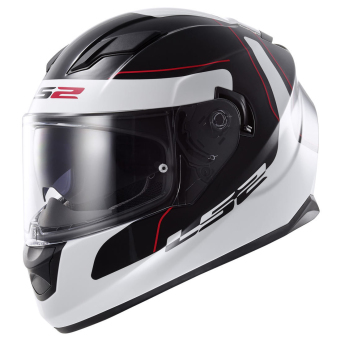 Harga LS2 Full-Face FF320 Lunar Helmet Large (Black/White)