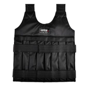 SUTENG 50kg Weighted Vest With Sholder Pads Comfortable Weight Jacket Adjustable Sanda Exercise Boxing Sand Clothing (Empty) - intl Price Philippines