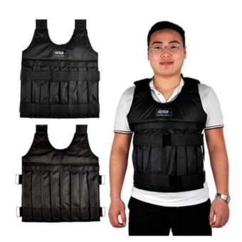 SUTENG 20kg Weighted Vest With Sholder Pads Comfortable Weight Jacket Adjustable Sanda Exercise Boxing Sand Clothing (Empty) - intl Price Philippines