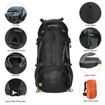 Lixada 50L Water Resistant Outdoor Sport Hiking Camping Travel Backpack Pack Mountaineering Climbing Backpacking Trekking Bag Knapsack with Rain Cover - intl Price Philippines