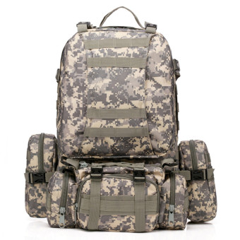 50L Molle 3D Assault Tactical Outdoor Military Rucksacks Backpack Camping Bag ACU Price Philippines