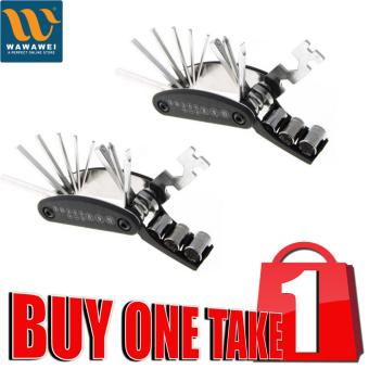 Wawawei 16 In 1 Multi Function Repair Tool Kit for Motorcycle Bicycle Outdoor Tools Buy 1 Take 1 (Black) Price Philippines