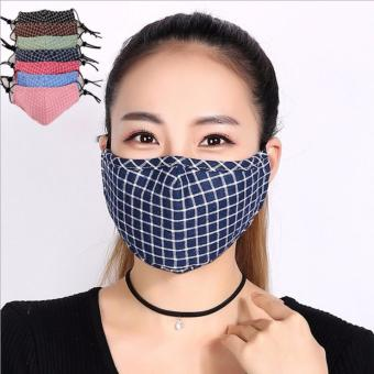 5Pcs/Lot Cotton Anti Haze Mask anti-Dust storm Mouth Protection mask Thick Windproof Mouth-muffle Flu PM2.5 Face masks - intl Price Philippines