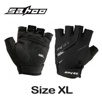 Harga SAHOO Size XL Cycling Gloves Guantes Ciclismo GEL Pad Breathable Half Finger Bicycle Glove MTB Bike Gloves Summer Black
