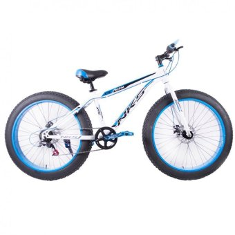 "NKS Kirin 26"" x 4"" Fat Tire Mountain Bike (White/Blue) with Laser LED Tail Light Price Philippines"