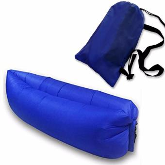 Harga Fast Inflatable Camping Banana Bed (Royal Blue)