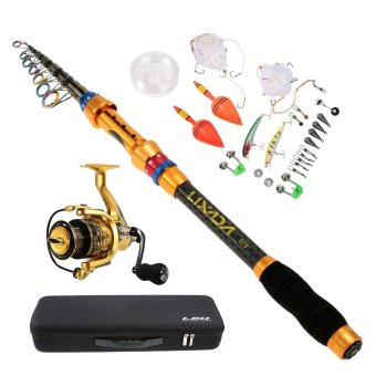 Lixada 2.7m/8.9ft Portable Lure Rod Set Spinning Rod and Fishing Reel Combos Full Kit Telescopic Fishing Rod Pole with Reel Line Lures Hooks Fishing Carrier Bag Case Fishing Gear Accessories Organizer - intl Price Philippines