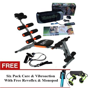 Harga Six Pack Care & Vibroaction Vibrating Slimming Massager Belt With Free Revoflex & Monopod