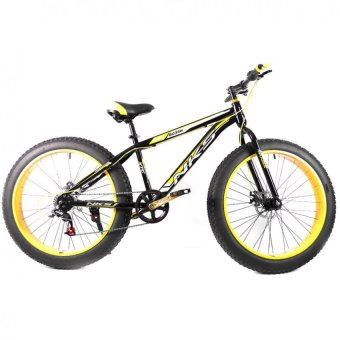 "NKS Kirin 26"" x 4"" Fat Tire Mountain Bike (Black/Yellow) with Laser LED Tail Light Price Philippines"
