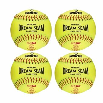 Harga Worth Official Dream Seam Fast Pitch C12RYSA Softballs set of 4 (Lime Green)