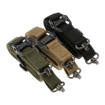 Harga Military Tactical Safety Two Points Outdoor Belt Safety Belt QD Series Sling Adjustable Strap Rifle Sling - intl