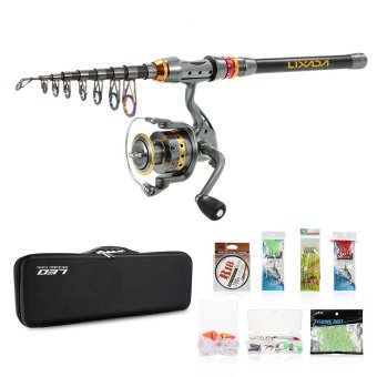 Lixada Telescopic Fishing Rod and Reel Combo Full Kit Spinning Fishing Reel Gear Organizer Pole Set with 100M Fishing Line Lures Hooks and Fishing Carrier Bag Case Fishing Accessories - intl Price Philippines