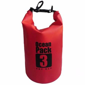 Harga Ocean Pack Waterproof Floating Dry Bag 3L ideal for Outdoor Sports (Red)
