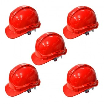 Powercraft OSHC ANSI Certified Safety Helmet (Red) Set of 5 Price Philippines