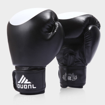Harga 10OZ Professional Boxing Gloves Boxing Tournament WBO WBC WBA IBF Black (39.0.5) - intl