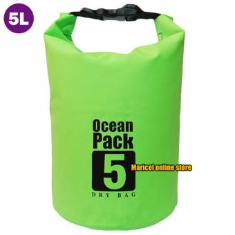 Harga Ocean Pack Waterproof Floating Dry Bag 5L ideal for Outdoor Sports (Green)