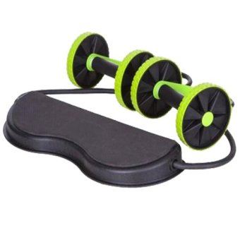 Harga Revoflex Xtreme Workout Abs Wheel (Black/Green)