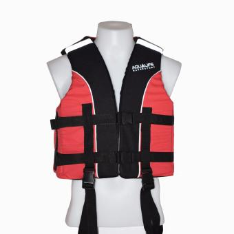 Harga Aqualife Flexibel Life Jacket Live Vest lifevest PFD (Red)