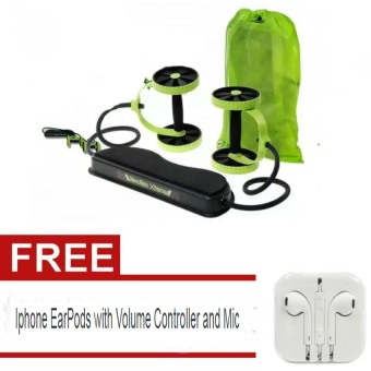 Harga Revoflex Xtreme Muscle Toning Kit (Light Green) with free Iphone EarPods with Volume Controller and Mic