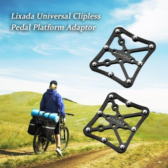 Lixada 1 Pair Universal Clipless Pedal Platform Adapter for Clip-in Pedals - intl Price Philippines
