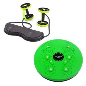 Harga Revoflex Xtreme (Green) with Waist Twisting Disc Healthy Massager (Green)